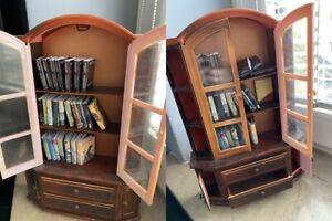 OOAK plastic bookcase cabinets books furniture for 1/6 bjd doll size miniature