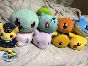 Pokemon Plush Toy Soft Stuffed Doll Rollin Friends 8 set pikachu Raichu Mew