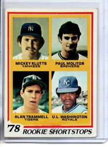 1978 TOPPS PAUL MOLITOR & ALAN TRAMMELL ROOKIE (NM)
