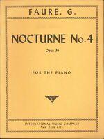 Faure Nocturne #4 Op 36 Piano Solo Sheet Music 1944