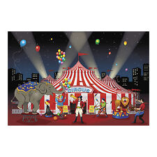 BIG TOP CIRCUS CARNIVAL tent PARTY DECOR wall mural backdrop photo prop BANNER