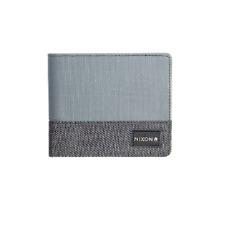 Nixon ORIGAMI BI-FOLD ZIP Gray Leather Logo Label Inside Zip Pocket Men's Wallet