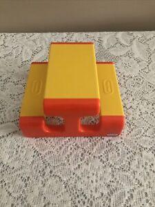 Vtg Little Tikes Dollhouse Furniture Picnic Table Yellow Orange