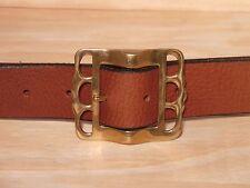 Brass Pirate 1 1/2 Inch Leather Belt Waist Size Mens Ladies Black Brown Tan