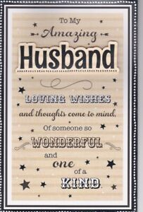 Husband Birthday Card Large Special 8 Page Verse Card