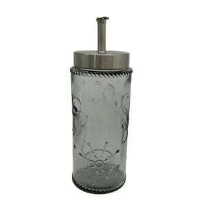 Solid Color Glass, Kitchen Oil & Vinegar Dispensers Bottle, Set of 2