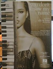 You Don't Know My Name - Alicia Keys - 2003 US Sheet Music