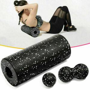 1 Set Roll Faszienrolle Massagerolle Fitness Sport Yoga Pilates Black XCV
