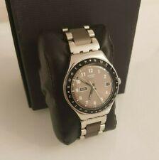 Swatch Irony YGS717G Mahagany Solid Armbanduhr Quarz ETA Swiss Made Wristwatch