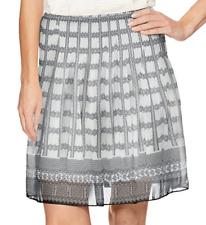 Max Studio Gray Printed Pleated Smocked Waist Skirt - $88