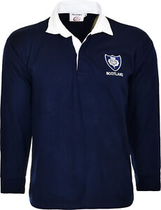 Scotland Rugby Shirt Retro Classic Traditional Scottish Top All Sizes S - 5XL