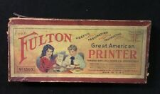Vintage Rubber Stamp Set The Fulton Great American Printer Original Box No. 130X