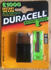 Sealed Vintage Duracell 9v Battery & Tester - Expired March 1996