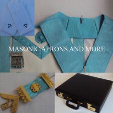 Master Mason Apron(Leather), Collar, Jewel, Regalia Case(Hard) & Gloves Set