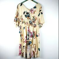 Oddy Women's Floral Hi-Low A-Line Tunic 3XL NWT!