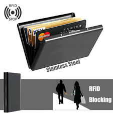 Stainless Steel Business ID Credit Card Holder RFID Protector Case Box Organizer
