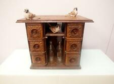 Vintage ANTIQUE Sewing DRAWERS Chest CABINET Jewelley BOX Wine RACK QZZQ Adelaid
