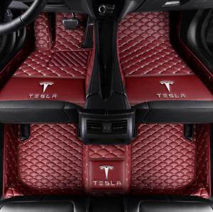 For Tesla Model-3 Model-S Model-X Luxury Custom Car Floor Mats Right rudder