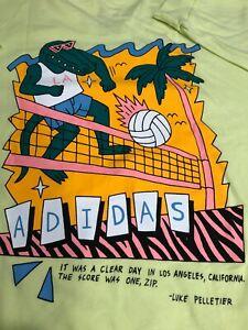 "Adidas Men's XXL ""LA GATOR"" Long Sleeve Electric Green T Shirt"