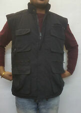 MENS WARM GILLICCI CORDUROY PADDED SHOOTING FISHING BODYWARMER GILLET WAISTCOAT