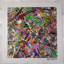 Phil Pierre - BUBBLE GUM 435 - new original abstract acrylic painting on board