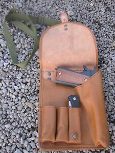 Militär Pistolentasche Armee Softair BW Tasche Leder Pistolenholster Bundeswehr