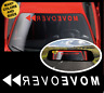 MOVE OVER Windshield Banner FUNNY RACING HUMOR Vinyl Decal Sticker for Toyota