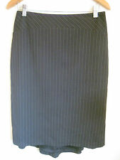 Events Collection Size 8 Navy Pinstripe Semi-Formal Skirt