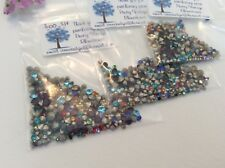 300 Czech Rhinestone Maxima Silver Foil Jewellery Mixed size colour REPAIR