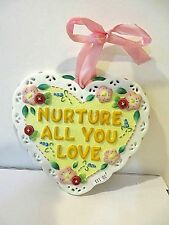"Mary Engelbreit ""Mother -O-Mine"" Hanging Heart Wall Ornament"