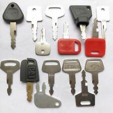 14 Construction Ignition Keys / Heavy Equipment Key Set CAT Komatsu JCB volvo