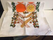 Vintage Dish Cloths - Mushrooms - Oranges - Set of 3