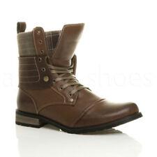 Stivali , anfibi e scarponcini da uomo pelle sintetici marrone stringhe