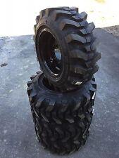 4-12-16.5 HD Skid Steer Tires on black wheels/rims -12X16.5-Camso SKS 732