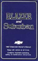 OEM Maintenance Owner's Manual Bound Chevy Truck Blazer, Suburban 1987