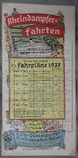 Fahrplan 1937 der Köln-Düsseldorfer Rheindampfschiffahrt Binnen-Schifffahrt