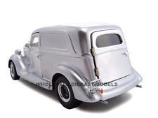 1935 FORD SEDAN DELIVERY SILVER 1:24 DIECAST MODEL CAR BY UNIQUE REPLICAS 18527
