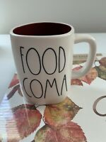 Rae Dunn Thanksgiving Fall By Magenta FOOD COMA Burgundy Interior LL Mug