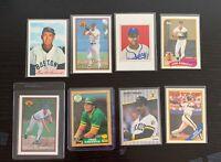 Topps/Bowman Tiffany Baseball Card Lot w/ 1987 Canseco + 89 Fleer Glossy Bonds+