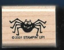 SPIDER TARANTULA Arachnid Long Furry Legs  Stampin' Up! 2001 wood RUBBER STAMP