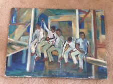 Northwest School Oil Painting, University Washington 1950 Abstract Expressionism