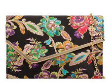 Ladies Floral Satin Clutch Bag Ethnic Flower Evening Party Purse Handbag KH2148
