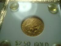 1913 Indian Head Gold Eagle 2 1/2 $2.50 Quarter Eagle Gold C0IN