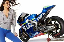 Suzuki Moto GP 30x20 Inch Canvas - Framed Picture Poster Print