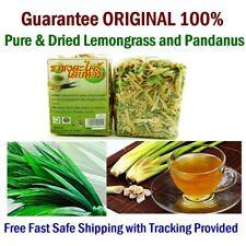 PURE 100% Organic Dried Lemongrass-Pandanus Thai Natural Leaf Tea Free Shipping