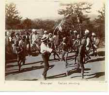 South Africa, Natal, Stanger Coolies dancing  Vintage citrate print. Afrique du
