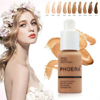 Phoera Foundation Full Coverage Liquid Base Brighten Long Lasting Shade Makeup a