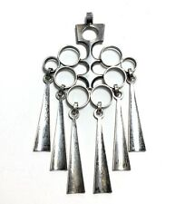Superb DAVID ANDERSEN Icycle Sterling Silver Modernist Large Pendant Norway