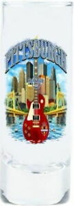 "Hard Rock Cafe PITTSBURGH 2017 City Tee T-Shirt 4"" SHOT GLASS Cordial V17 New"
