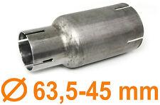Edelstahl Auspuff Rohr Reduzierstück Verbindung Adapter 63,5mm auf 45mm